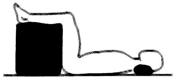 Bandscheibenwürfel 50x45x35cm zur Stufenlagerung ohne Bezug