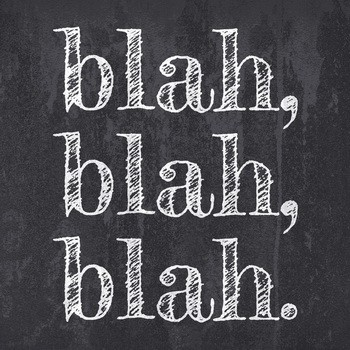 Leinwandbild BLAH BLAH BLAH  Leinwand auf Keilrahmen schwarz-weiß quadratisch