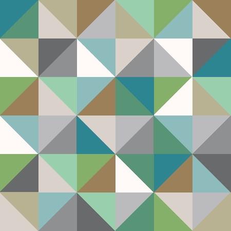 Leinwandbild TRIANGLES türkis-grau-grün Leinwand auf Keilrahmen quadratisch