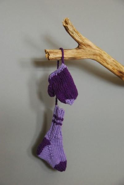 Weihnachtsanhänger Fäustling und Socke