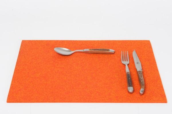 Daff Filz Tischset, Set aus Filz 33 x 45 cm sunset meliert