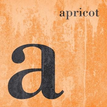 COLOR  Buchstabenserie APRICOT Dekobuchstabe