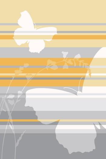 Leinwandbild BUTTERFLY STRIPES 4423 gelb-grau Hochformat Leinwand auf Keilrahmen