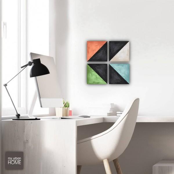 ART  DIAGONAL  4-teiliges Set Leinwandbilder a 20x20cm