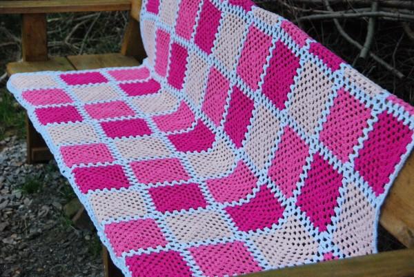 Rosalie Decke 210 X 120 Gehäkelt Granny Squares Baumwolle Wohnencom