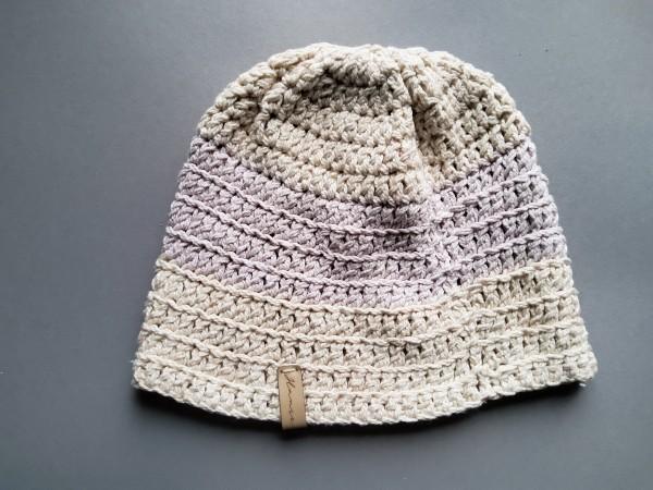 Mütze BALTRUM Baumwolle pastell Gr. L