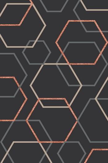 Leinwandbild ART 5848A anthrazit-copper Leinwand auf Keilrahmen Hoch-oder Querformat