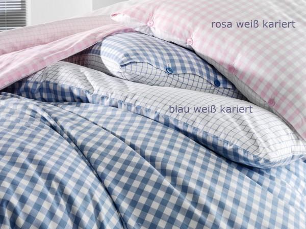 Bettwäsche Set Rosa Weiß Kariert 155220 Cm 8080 Cm Wohnencom