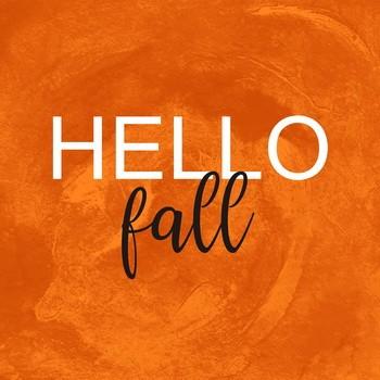 Leinwandbild HELLO FALL  orange  Leinwand auf Keilrahmen