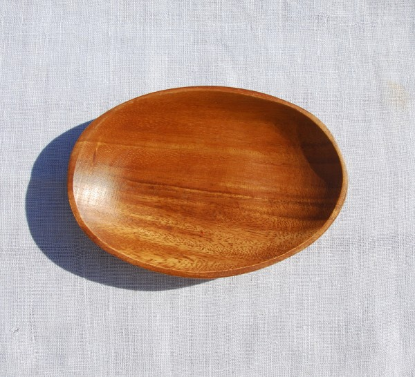 Schälchen aus Akazienholz, oval
