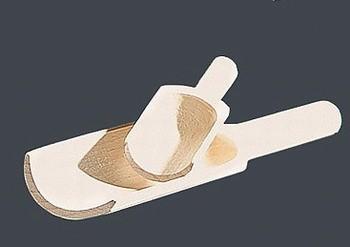 ASA Memo Holzschäufelchen 4 Stück für Vorratsdosen 9,6 cm lang aus Birkenholz