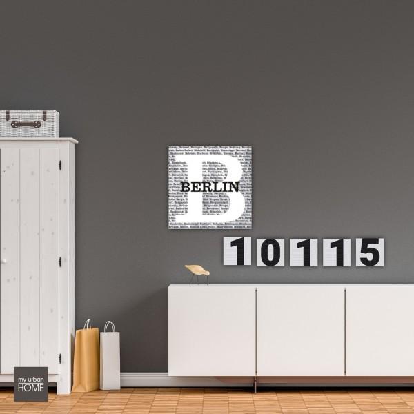 Inspiration10115 BERLIN  6-teiliges Set Leinwand auf Keilrahmen 5 Bilder  20x20 cm, 1 Bild 60x60cm