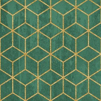 ART 6684A  Leinwandbild auf Keilrahmen in  emerald-gold