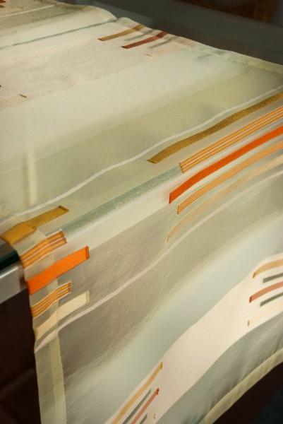 Tischläufer  gelb orange, 40x135cm,Querstreifen