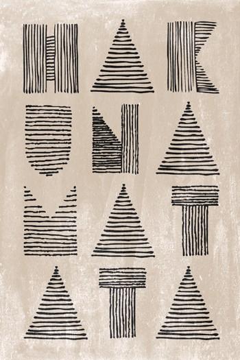 Leinwandbild HAKUNA MATATA  auf Keilrahmen natur-schwarz Hochformat 2 : 3