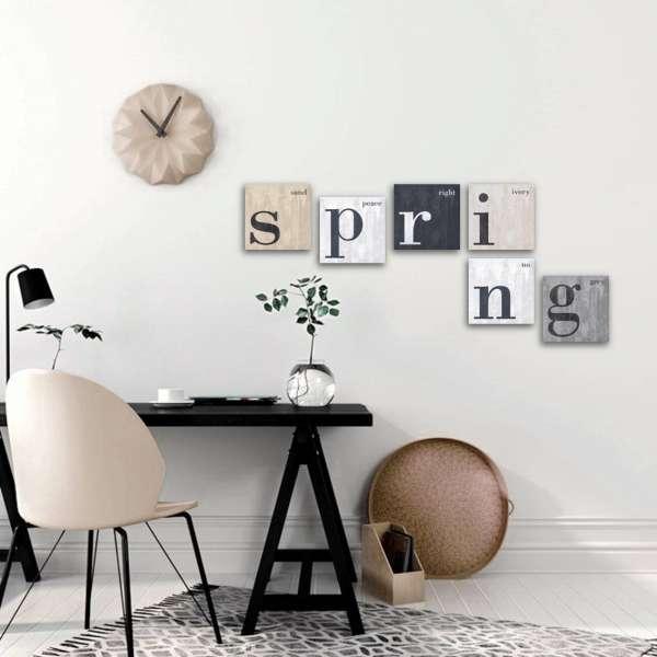 Inspiration  Leinwandbilder SPRING  6-teiliges Bilderset Leinwand auf Keilrahmen, 6 Bilder je 20x20 cm