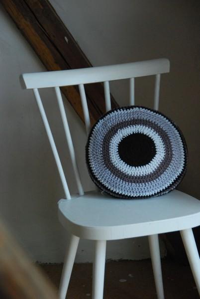 Häkelkissen MACARON rund Baumwolle