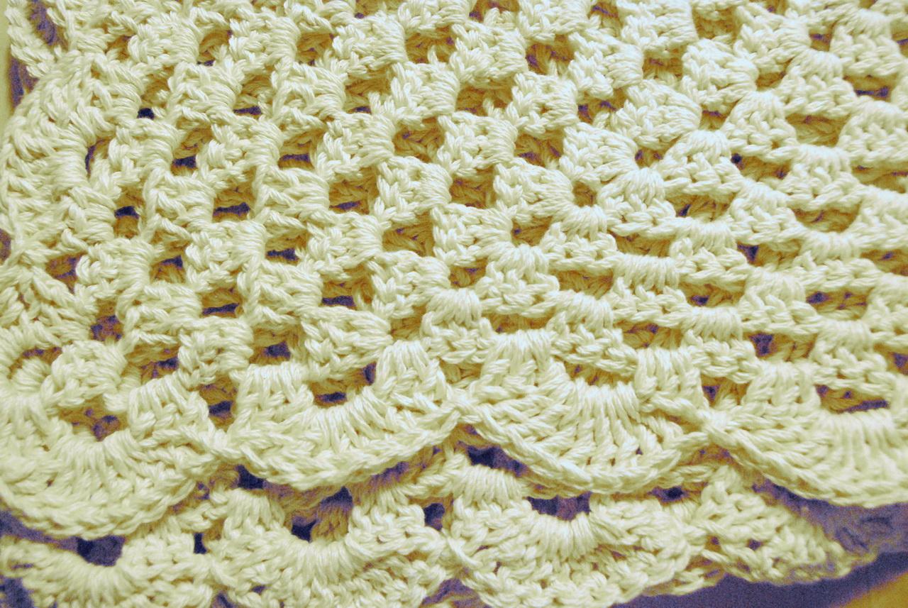 Babydecke Soft 88 X 59 Cm Gehäkelt Baumwolle Granny Square Kinder