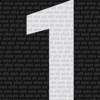 Leinwandbild NUMBER ONE  Zahlenserie schwarz-weiß, Leinwand auf Keilrahmen