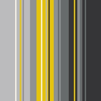 Leinwandbild STRIPES grau gelb, auf Keilrahmen