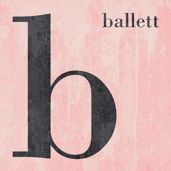 Leinwandbld COLOR SPORT   B wie BALLETT  blush-rose  quadratisch
