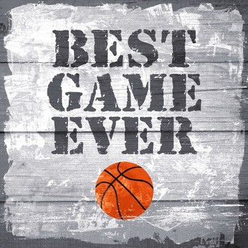 Leinwanndbild BASKETBALL - BEST GAME EVER auf Keilrahmen