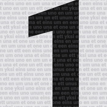 Leinwandbild NUMBER ONE Zahlenserie weiß-schwarz Leinwand auf Keilrahmen