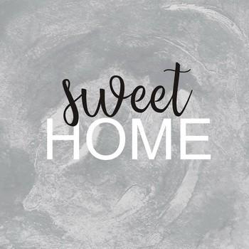 Leinwandbild SWEET HOME silver Leinwand auf Keilrahmen quadratisch