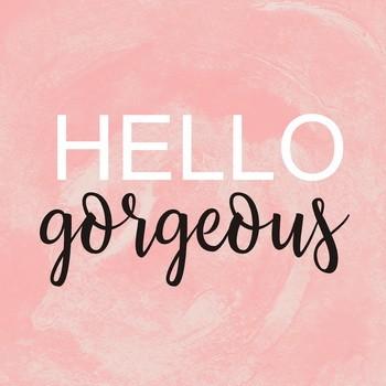 HELLO GORGEOUS  blush  Leinwandbild auf Keilrahmen