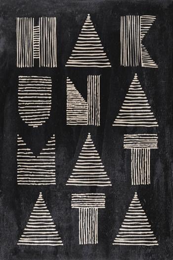Leinwandbild HAKUNA MATATA  auf Keilrahmen anthrazit-natur Hochformat 2 : 3