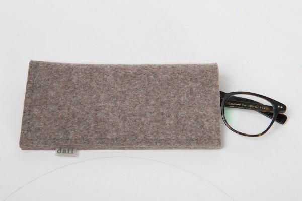 Daff Filz Etui- Hülle aus Filz 10 x 4 x 20 cm stein meliert