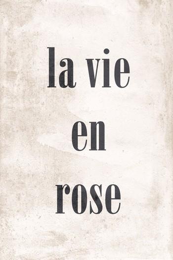 Leinwandbild LA VIE EN ROSE natur-schwarz Hochformat 20x30 und 40x60 cm