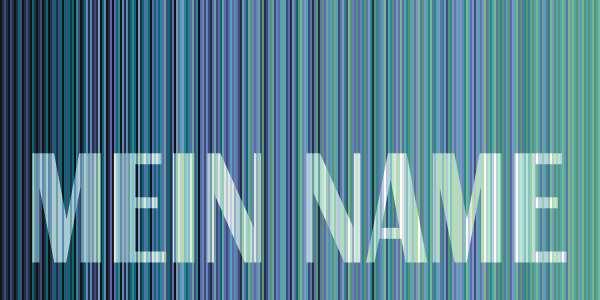 Strandtuch STRIPES NAME 7374 mit eigenem Namen  türkisblau Größe S = 140x70 cm