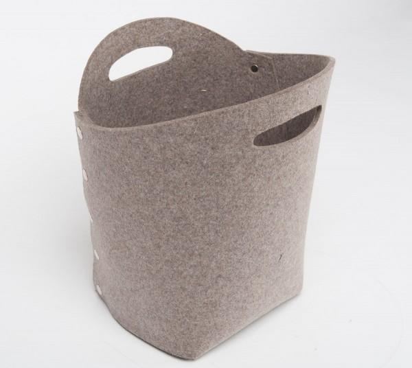 Daff Filz Container, Papierkorb Wasty aus Filz 33x25x40cm - stein meliert