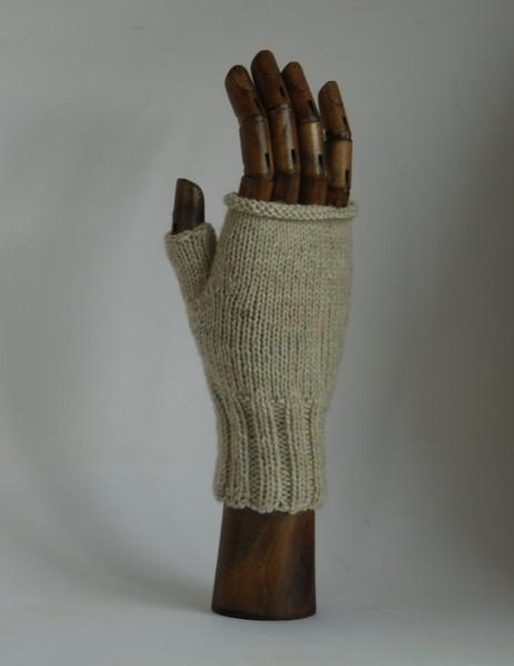 Stulpe, fingerloser Handschuh HELLGRAU