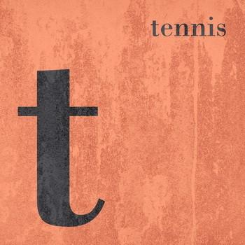 Leinwandbld COLOR SPORT  T wie TENNIS  Buchstabenserie copper quadratisch