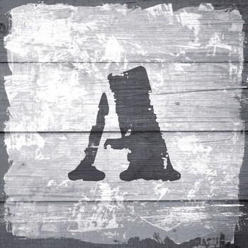 Leinwandbild STEMPEL Buchstabenserie