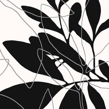Leinwandbild 6118A schwarz-weiß auf Keilrahmen quadratisch