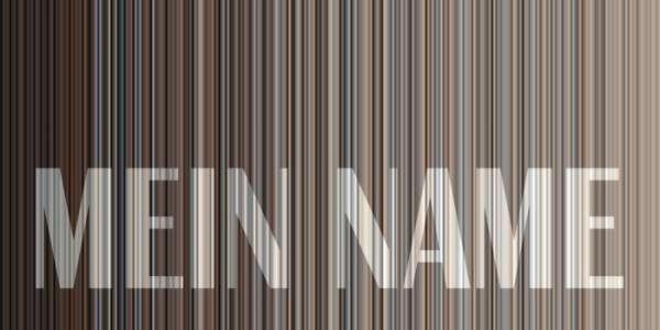 Strandtuch STRIPES NAME 7374 EIGENNAME grau-beige Größe S = 140x70 cm