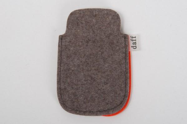 Daff Filz I-Phone 4 Handyhülle Filz Hülle stein meliert 8,5x13,5 cm