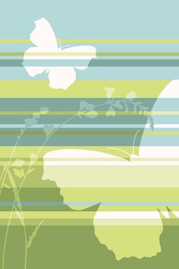 Leinwandbild BUTTERFLY STRIPES 4423 grün-türkis Hochformat Leinwand auf Keilrahmen