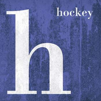 Leinwandbld COLOR SPORT  H wie HOCKEY  Buchstabenserie navy-blau quadratisch