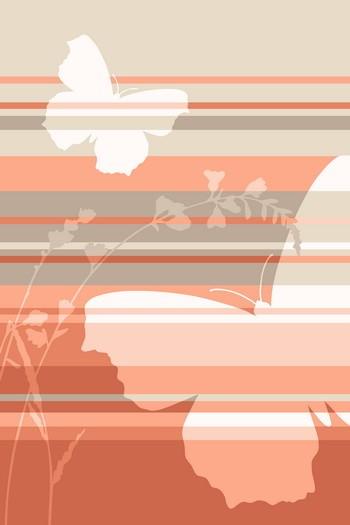 Leinwandbild BUTTERFLY STRIPES 4423 sand-copper Hochformat Leinwand auf Keilrahmen